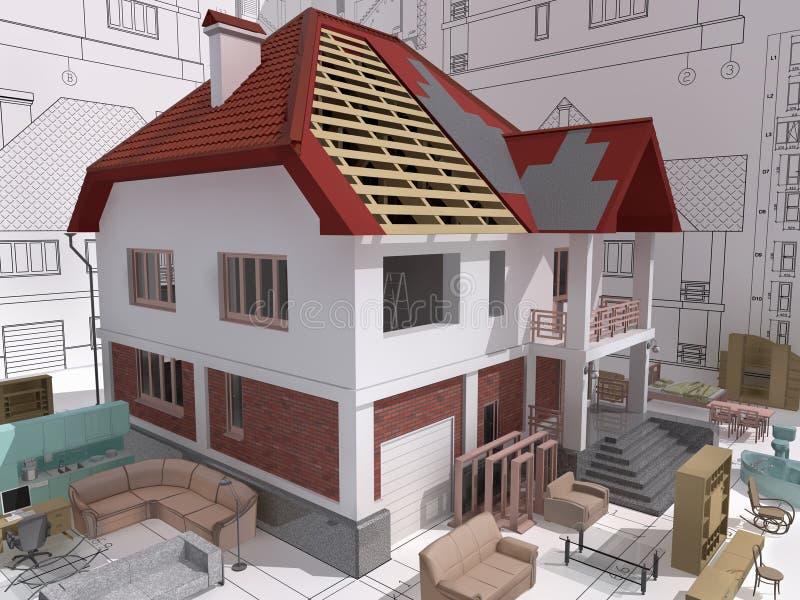 Download Building. stock illustration. Image of housing, rendered - 13756583