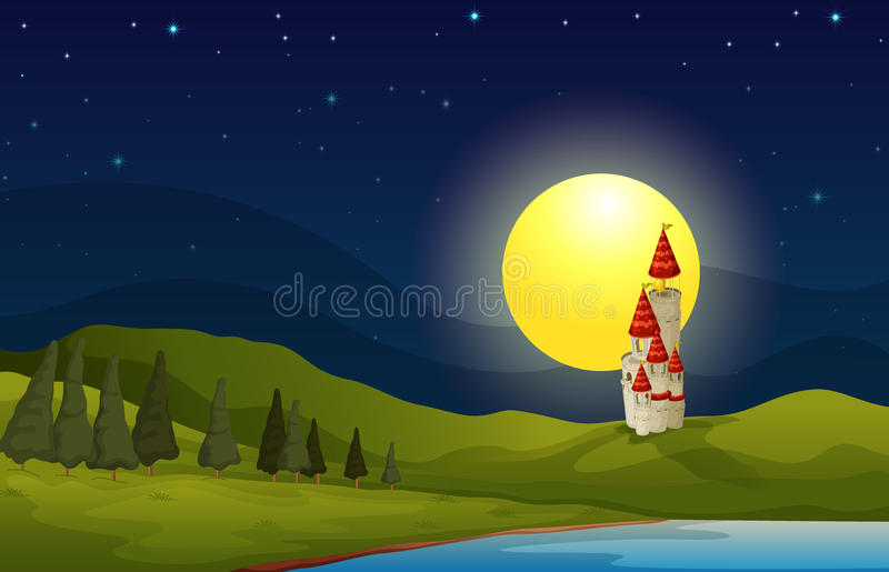 Download Building stock vector. Illustration of home, lake, evening - 26942028