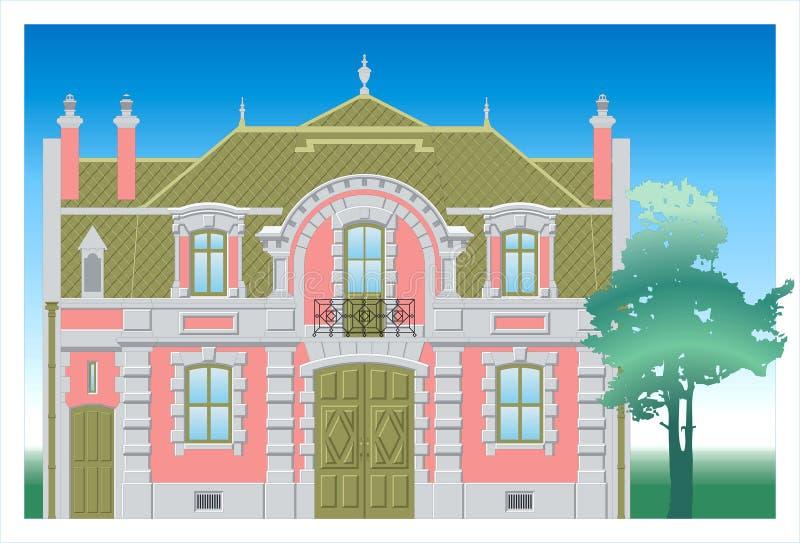 Download Building stock vector. Image of estate, dream, retro, country - 4780698