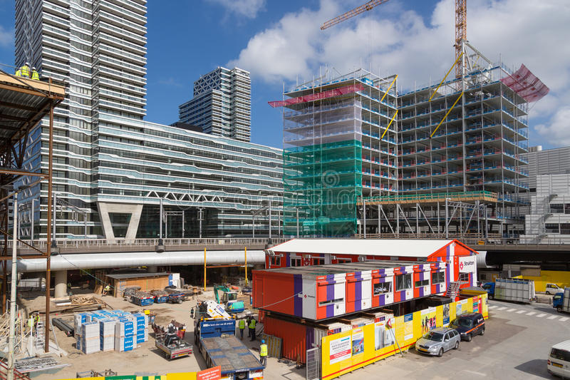 Download Building Activities At The New Central Station Of The Hague, The Netherlands Editorial Stock Image - Image of crane, hoist: 28712569