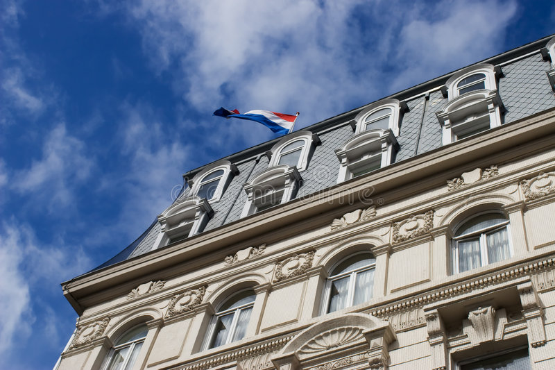 Building in Amsterdam. A building from Amsterdam, Netherlands stock photography