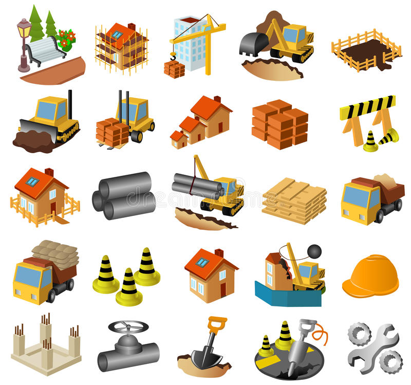 Free Building And Construction Set Royalty Free Stock Photos - 21314208