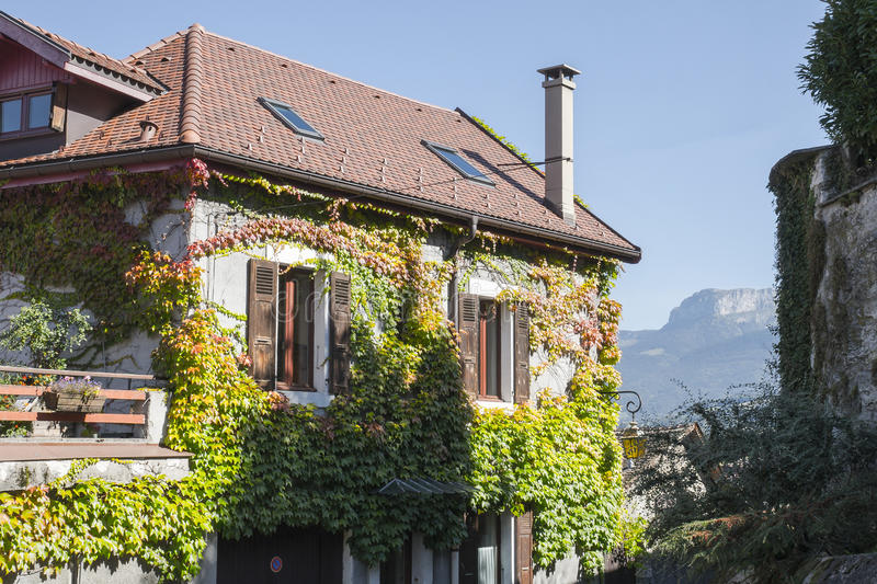 Building in annecy stock photos
