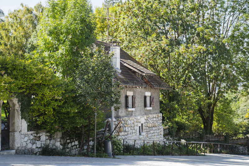 Building in annecy stock photography
