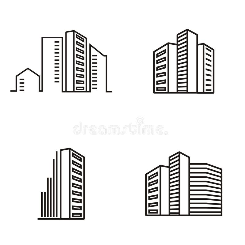 Building apartments logo.  vector illustration