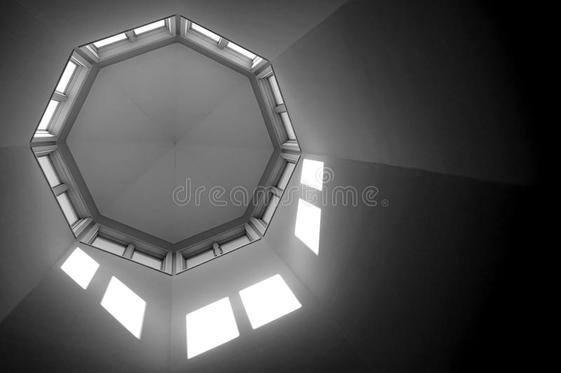 Building Architectural Octagon Turret Ceiling stock photos
