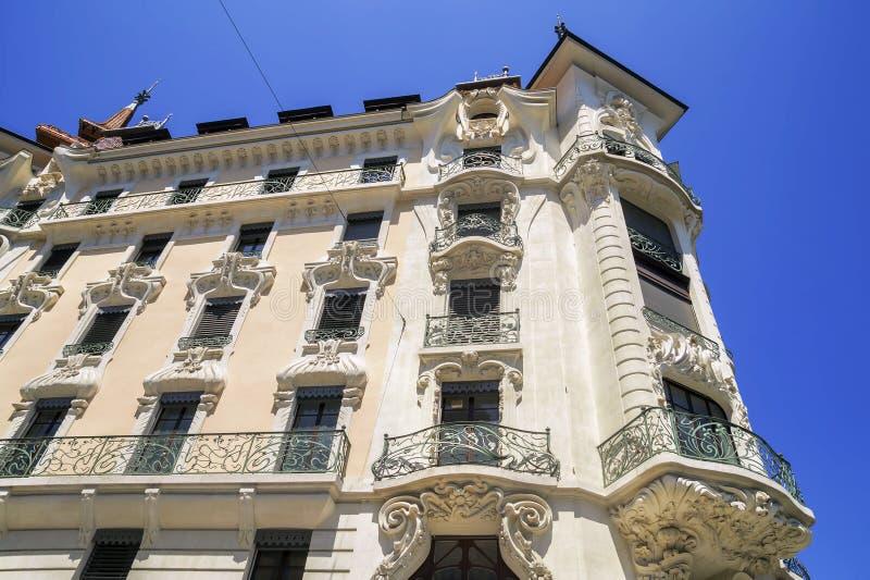 Building architecture in Geneva city, Switzerland stock photo
