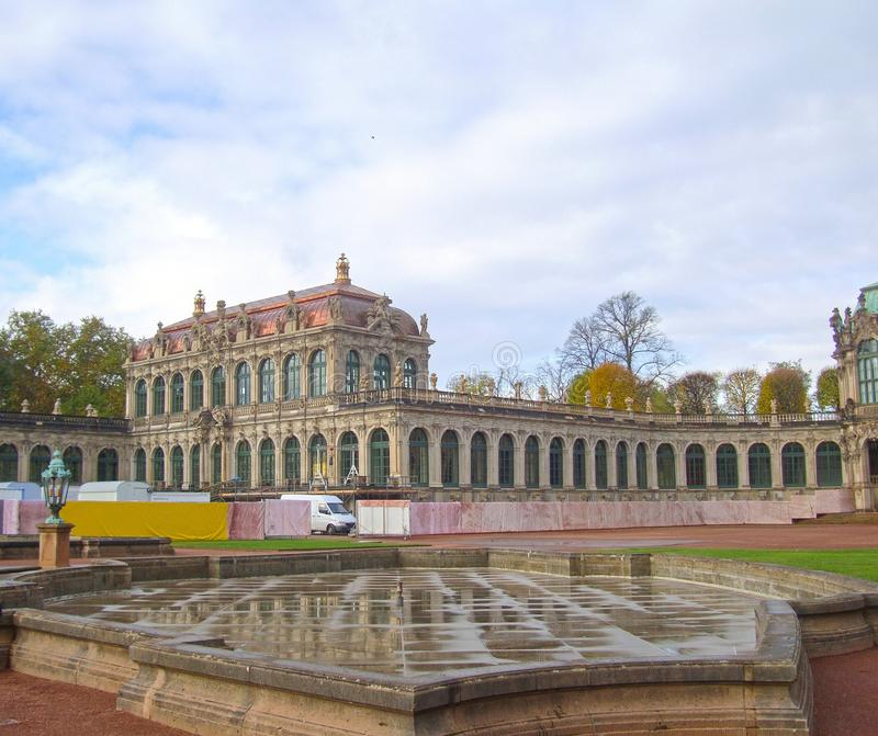 The view of the palace Zwinger in Dresden. stock images