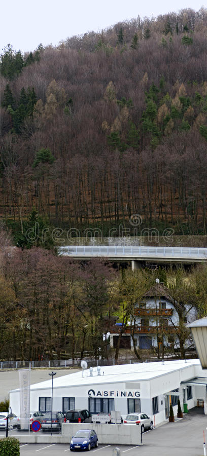 Building of the austrian Autobahn and high way financing stock corporation. Operations building of the austrian Autobahn and high way financing stock corporation stock images