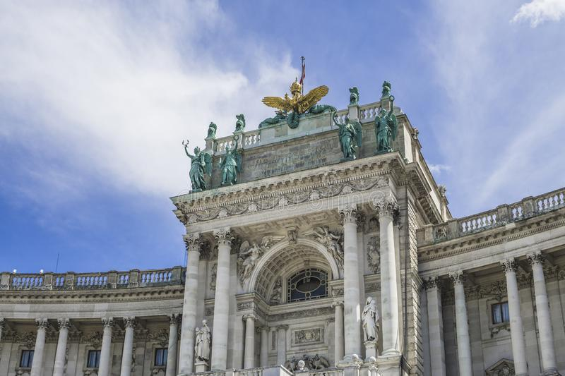 Building of the Austrian National Library Vienna Hofburg Imperial Palace.  stock image