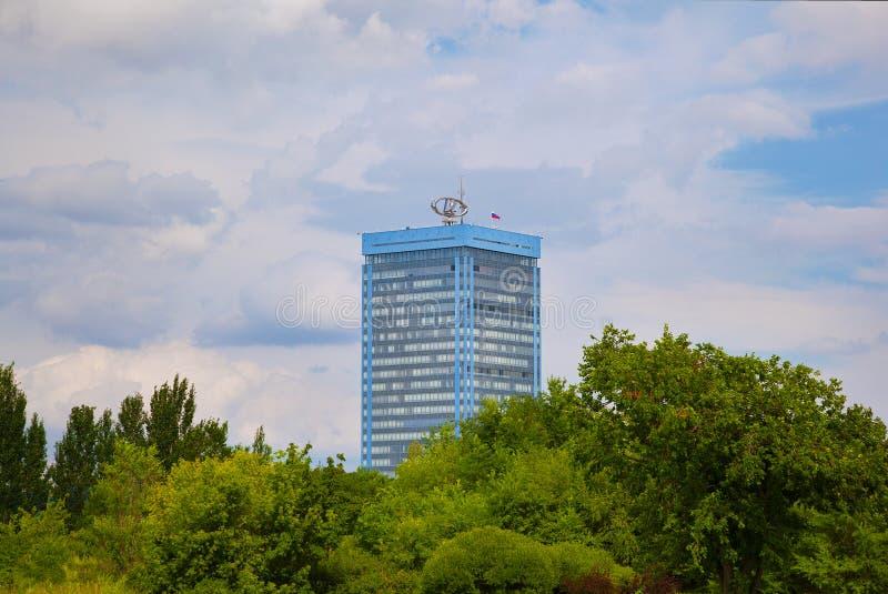 The building of the AVTOVAZ. Togliatti, Russia - Aug 4, 2017: the building of the AVTOVAZ royalty free stock image