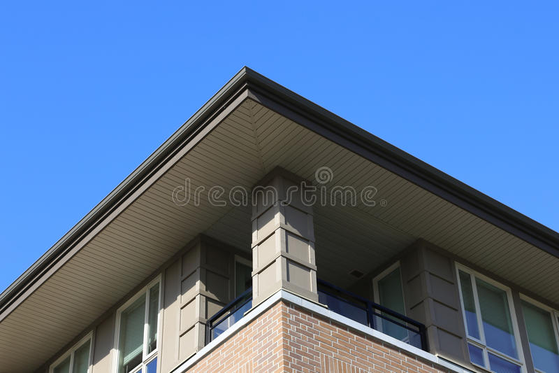 Building background. One side of building with nature background royalty free stock photos