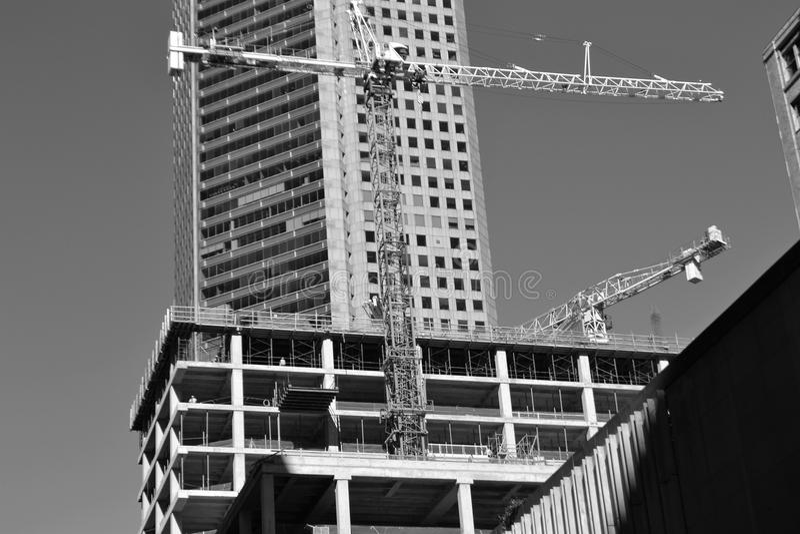 Building, Black And White, Landmark, Metropolis stock photography
