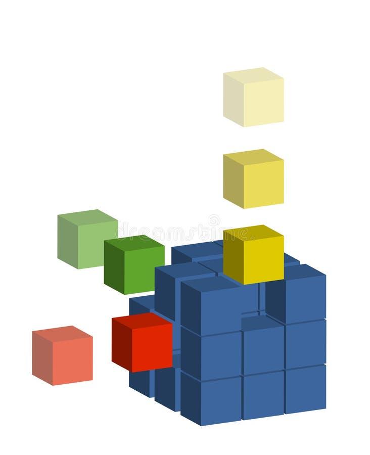 Building block royalty free illustration