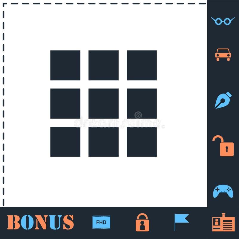 Building block icon flat. Building block. Perfect icon with bonus simple icons vector illustration