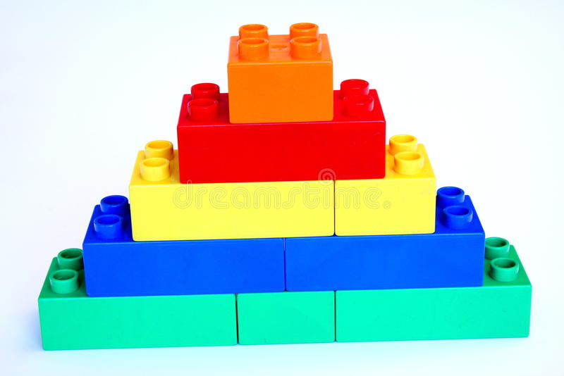 Building block tower stock image