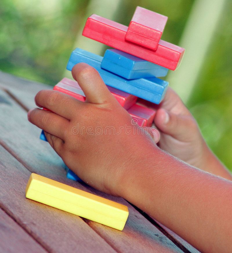 Download Building blocks stock photo. Image of child, hands, game - 70514