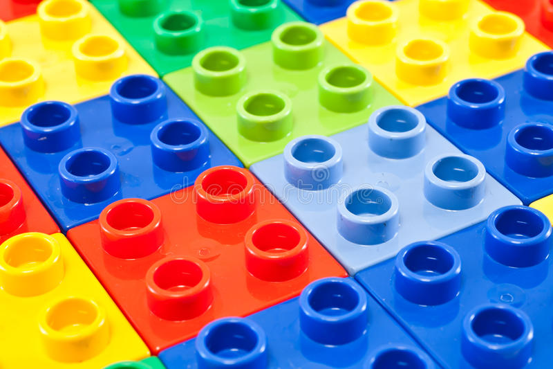 Building blocks background stock photo
