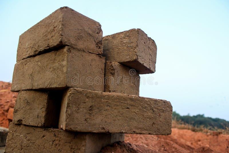 Building blocks by brick stock image