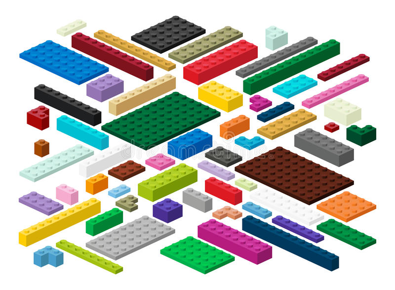 Building blocks and plates in vector. Building blocks and plates for children in vector easily modifiable for graphic designers vector illustration