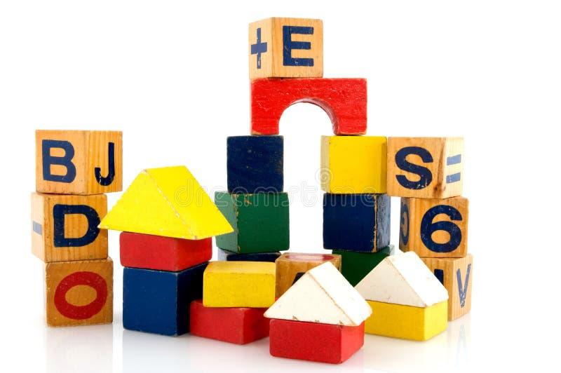 Building with blocs royalty free stock photos