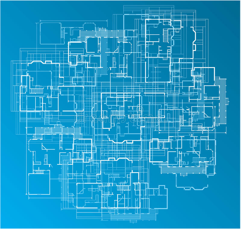 Building blueprint stock vector illustration of detailed 11040628 building blueprint malvernweather Choice Image