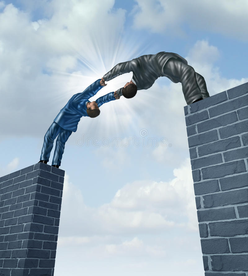 Download Building A Bridge stock illustration. Image of meeting - 31273186