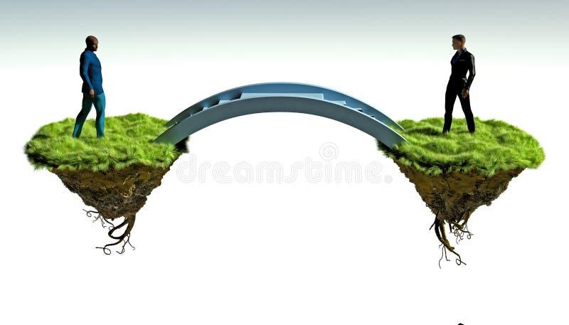 Building bridges stock image