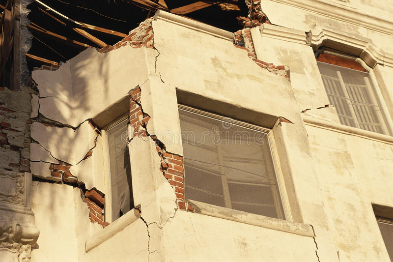 Building with broken walls royalty free stock photos