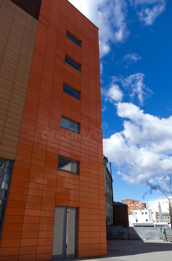 Building of business center with blue sky royalty free stock photography