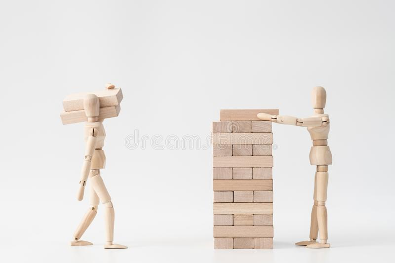 Building business marriage together partnership royalty free stock photo