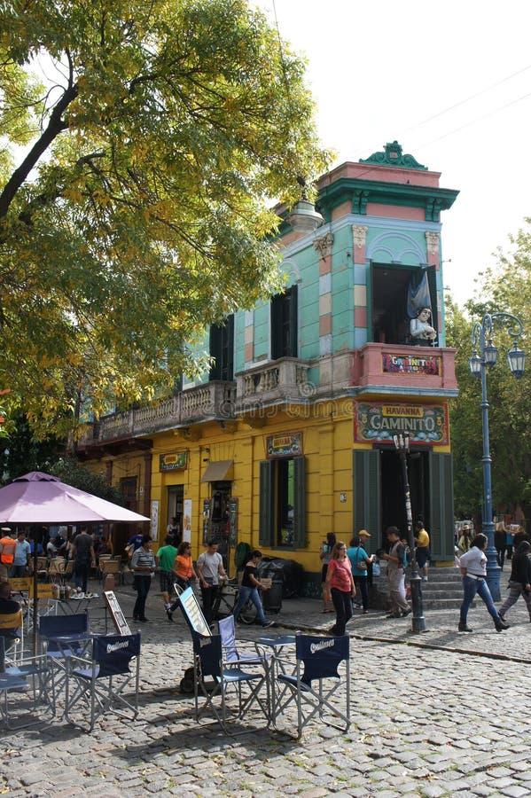 Building in Caminito, La Boca, Buenos Aires. Shop in Caminito, La Boca, Buenos Aires, Argentina royalty free stock photos