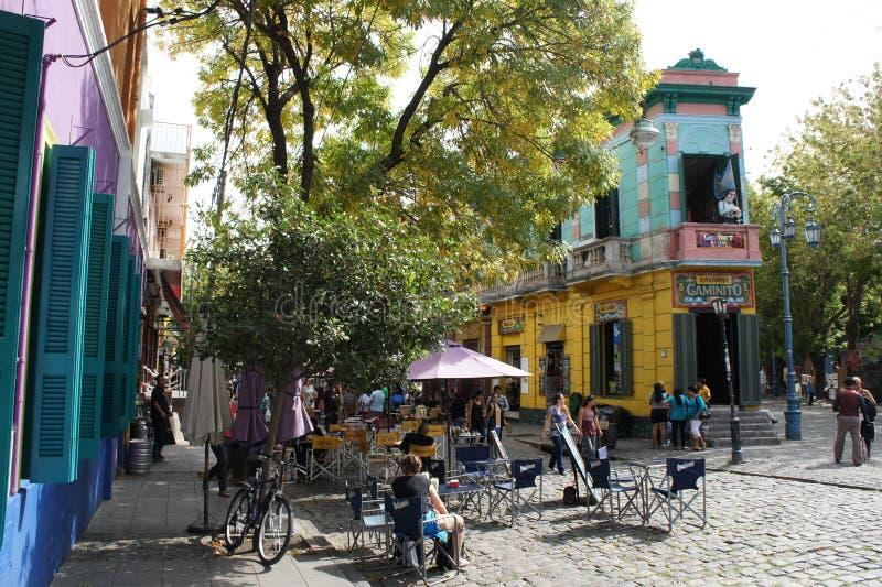 Building in Caminito, La Boca, Buenos Aires. Shop in Caminito, La Boca, Buenos Aires, Argentina royalty free stock image