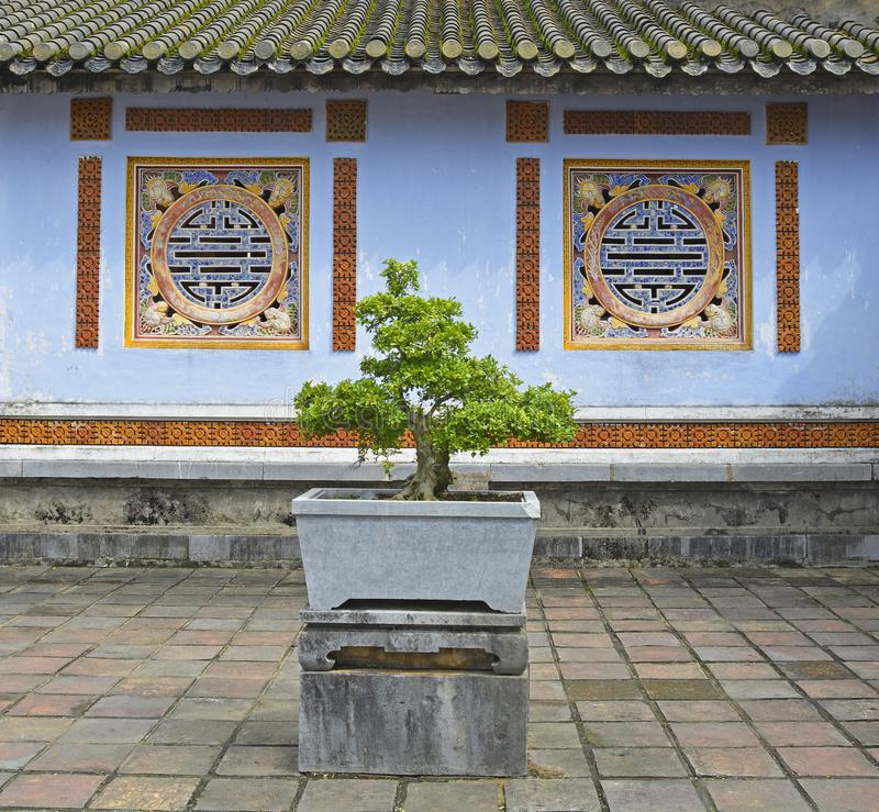 Building in Can Chanh Palace Courtyard royalty free stock photos