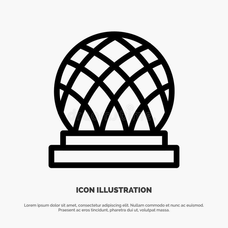 Building, Canada, City, Dome Line Icon Vector royalty free illustration