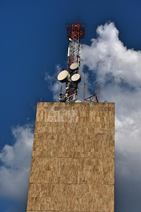 Building And Cell Communications Tower stock image