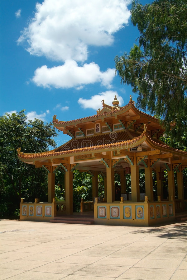 Building at Chinese temple royalty free stock photo