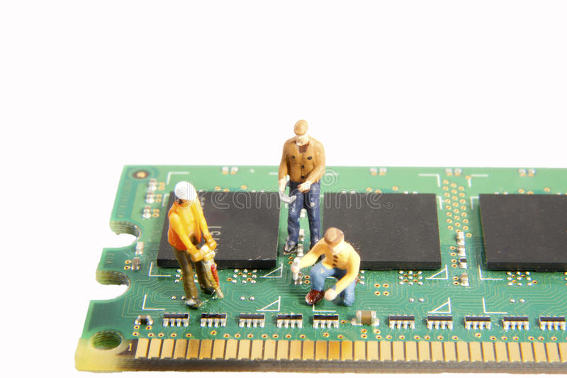 Building Circuits royalty free stock photography