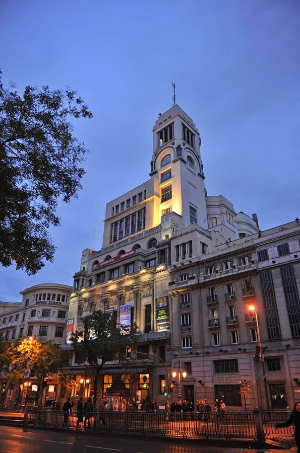 Building of the Circulo de Bellas Artes, Madrid, Spain royalty free stock photo