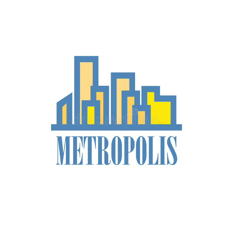 Building and city illustration symbolizing Metropolis vector illustration