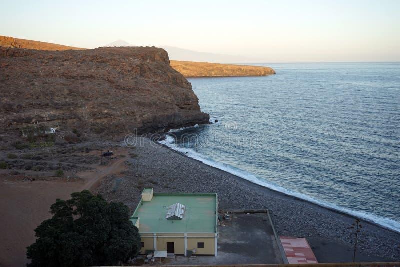 Building on the coast. Of La Gomera isldn, Spain stock image