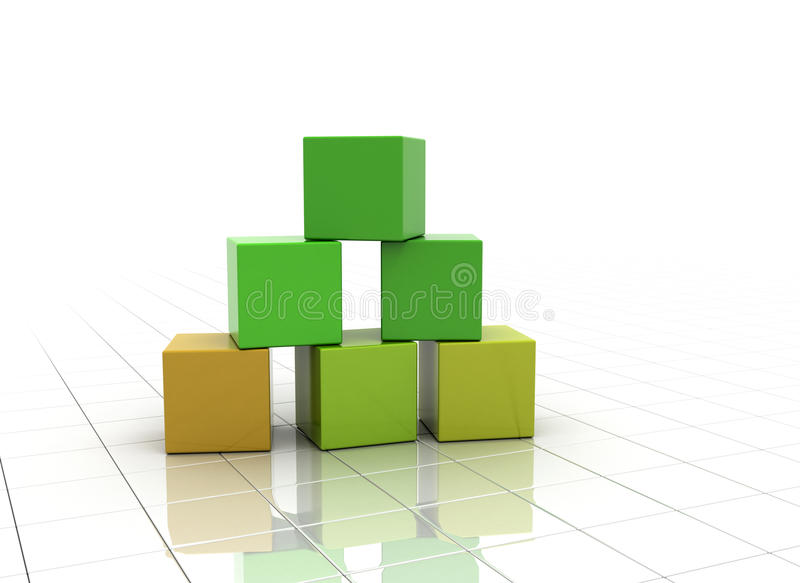 Download Building From Colourful Blocks Stock Illustration - Image: 16194101