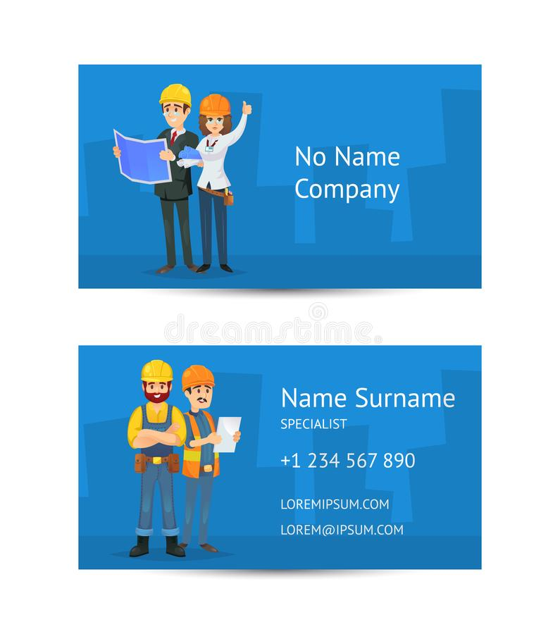 Building Company Business Card Layout Stock Vector - Illustration of ...