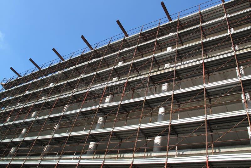 Building construction. Stop building costruction for economic crises stock photo