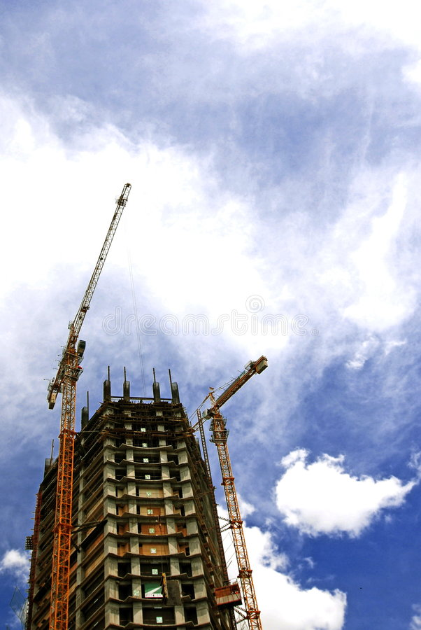Building Construction. A building still under construction. Jakarta, Imdonesia royalty free stock image