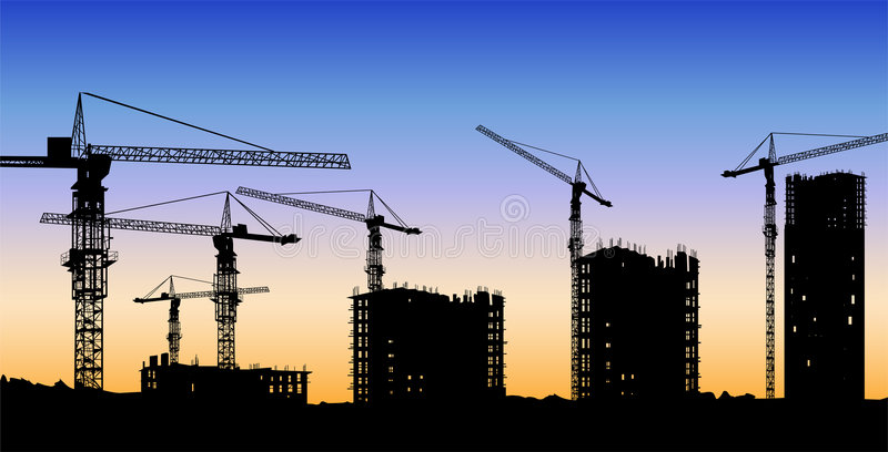 The building construction vector illustration