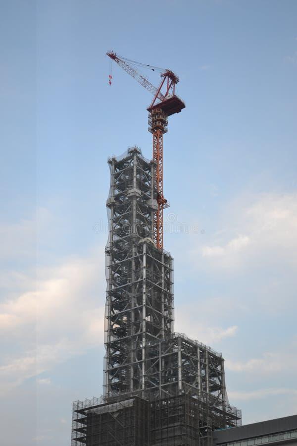 Building Construction crane nagoya achi japan. Building Construction crane sasashima-live station nagoya achi japan royalty free stock photography