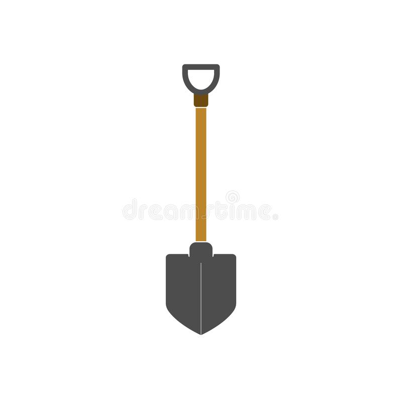 Building, construction, dig, garden, industry, shovel icon. Vector illustration, flat design. Building, construction, dig, garden industry shovel icon Vector royalty free illustration