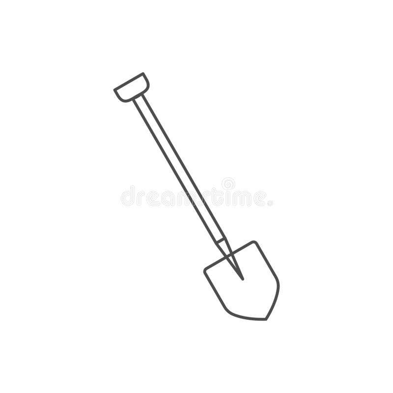 Building, construction, dig, garden, industry, shovel icon. Vector illustration, flat design. Building, construction, dig, garden industry shovel icon Vector vector illustration