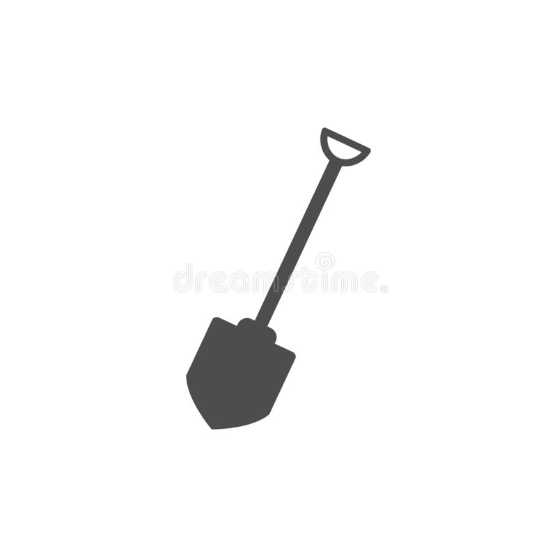Building, construction, dig, garden, industry, shovel icon. Vector illustration, flat design. Building, construction, dig, garden industry shovel icon Vector stock illustration